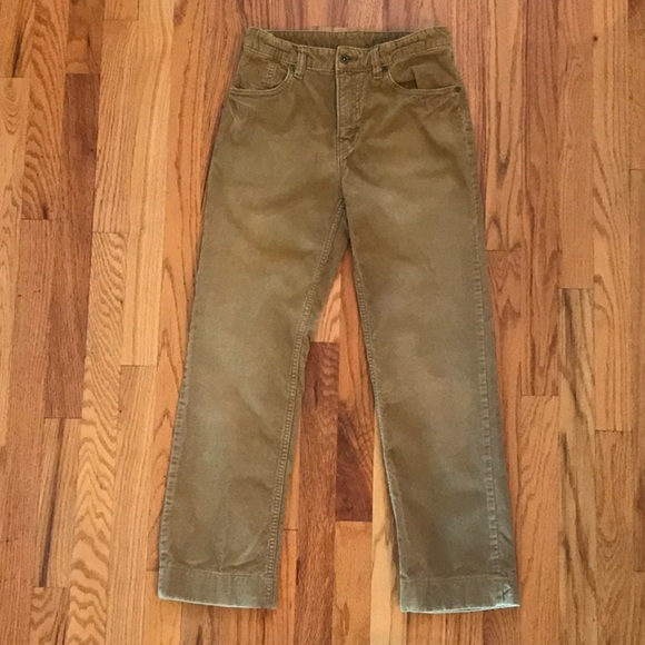 Gap Kids Boys Chinos Corduroy Pants Gray Tan 6 Slim